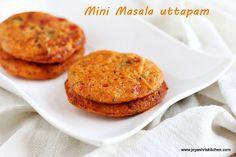 Jeyashri's Kitchen: MINI MASALA UTTAPAM RECIPE | SOUTH INDIAN BREAKFAST RECIPES