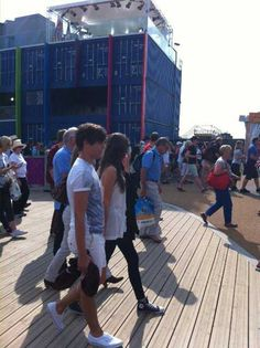 Louis and Eleanor at the Olympics yesterday