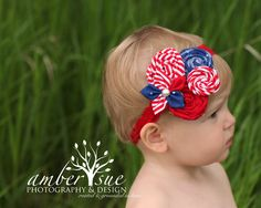 0a9d60d45 fourth of july headband red white and blue memorial day patriotic headband  for newborn baby toddler