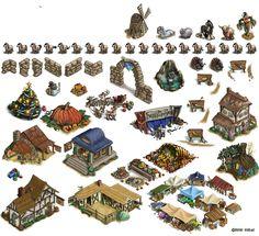 game art design buildings - Google 検索