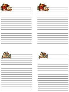 Free printables, recipe cards, note cards, etc.