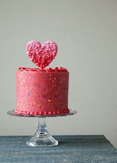 Strawberry Confetti Cake - perfect cake for valentines day repinned by @LaVieAnnRose