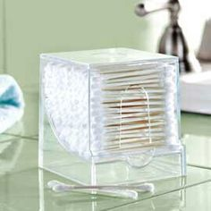 Use a toothpick dispener for your ear/cotton buds