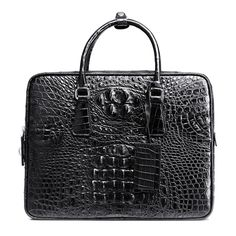 BVP High-end Genuine Crocodile Leather Alligator 14'' Laptop Bag Briefcase  #BVP #BriefcaseAttache