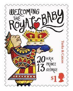 Royal Baby Stamps by Dana Goldberg, via Behance