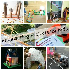 Engineering activities for kids that will get their brains and bodies moving! Build a catapult, construct PVC pipe creations, or design a fort!