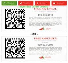 Chilis coupons & Chilis promo code inside The Coupons App. Free appetizer or dessert with your entree at Chilis April Free Printable Coupons, Free Printables, Chilis Coupons, Dollar General Couponing, Learning Maps, Free Kids Meals, Coupons For Boyfriend, Casual Restaurants, Love Coupons