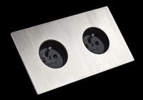 4 x 2 sockets gang 13amp double mur blanc switched sockets avec 2 vis