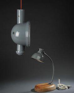 Industripendel,Tyskland, 1930erne.    Marianne Brandt/Kandem, bordlampe