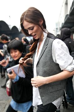 I love women in modified menswear.