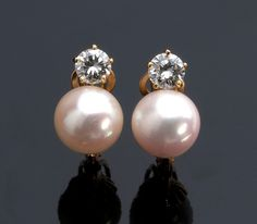 18K GOLD, DIAMOND AND PEARL ...