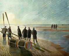 Sailors On The Beach - Eric Ravilious