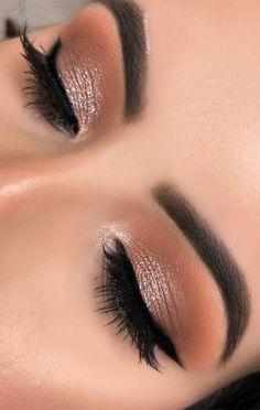 Soft Eye Makeup, Glam Makeup Look, Makeup Eye Looks, Pretty Makeup, Skin Makeup, Eyeshadow Makeup, Bridal Smokey Eye Makeup, Soft Bridal Makeup, Cut Crease Eyeshadow