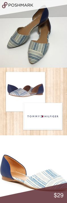 Tommy Hilfiger Naree blue d'orsay flats 9 Size 9. Worn a few times, in excellent condition. See my closet for more great deals on designer clothing, shoes, and assessories. 15% off a bundle of three or more items. Tommy Hilfiger Shoes Flats & Loafers