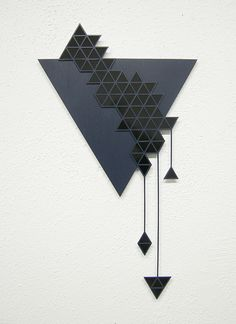 sandra fettingis sculptural work: pattern based wall sculpture made of styrene, wood and paint. Geometric Wall, Geometric Shapes, Art Plastique, Wall Sculptures, Wood Wall Art, Wall Art Prints, Paper Art, Glass Art, Decoration