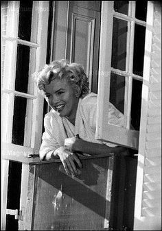 on the set of The Seven Year Itch