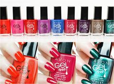 Avon's Gel Finish Nail Polish is 7 benefits in 1: Shine, Gel-like Finish, Vivid Color, Base Coat, Top Coat, Protection & Strengthener youravon.com/kstiebig