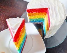 Rainbow cake - Torta arcobaleno RICETTA