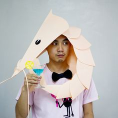 Cocktail party prawn hat