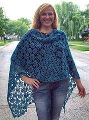 Ravelry: Gemstones Crocheted Shawl pattern by Laura Krzak