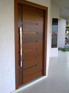 If somebody attempts to compose a story about inner doors, it would certainly be really interesting. Get inspired with our gallery of interior door designs. Surf around for a variety of interior door ideas. Modern Wooden Doors, Modern Front Door, Wooden Front Doors, The Doors, Entry Doors, Wood Doors, Front Entry, Front Door Entrance, Door Entryway