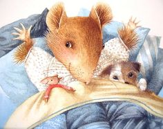 Marjolein Bastin illustration - vera the mouse, vera la souris...