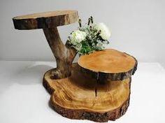Resultado de imagem para passo a passo porta bolos e doces de tronco arvores como pintar no rusticos