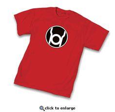 Green Lantern Red Lantern Corps Symbol Red Adult T-Shirt