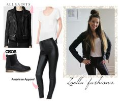 Zoella Vlog! T-Shirt with pocket ~ COS Leather Jacket ~ All Saints Disco Pants ~ American Apparel (sold out) Chelsea Boots ~ ASOS