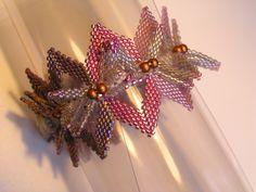 Helix bracelet Contemporary Geometric Beadwork