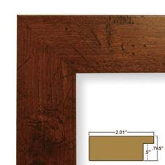 Amazon.com: Craig Frames FM74DKW 11 by 14-Inch Rustic Photo Frame, Smooth Grain Finish, 2-Inch Wide, Dark Brown: Home & Kitchen