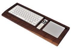 Wooden Apple Keyboard / Trackpad Tray