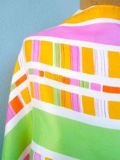 Tutti Frutti - a vintage 1970's Vera Neumann Color Block Silk Scarf