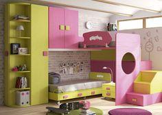 HABITACION INFANTIL 610-29 Diy Room Decor For Teens, Cool Beds, Girl Room, Kids Bedroom, Storage Chest, Toddler Bed, Cabinet, Furniture, Home Decor