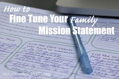Life on Purpose - 5 Easy Steps to Fine Tune Your Family's Mission Statement — Circles of Faith