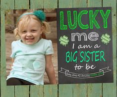 Big Sister Pregnancy Announcement Card / Sibling by AudreyEdesigns, $7.00