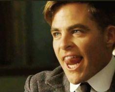 Chris Pine tongue