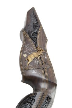 This page provides information about the Blacktail Bows Legacy series bows. The investment-grade Legacy series bows feature hand carving, hand engraving, hand inlay, heirloom craftsmanship Archery Gear, Archery Hunting, Bow Hunting, Archery Targets, Traditional Bow, Traditional Archery, Bow Quiver, Recurve Bows, Kayaking Gear