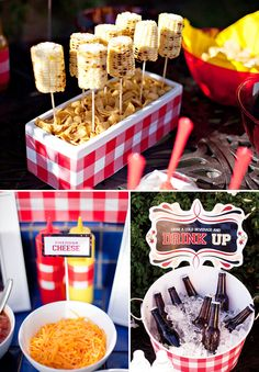 Outdoor party ideas / bbq welcome for Montana guests? For more great party ideas visit Get The Party Started - www.getthepartystarted.etsy.com