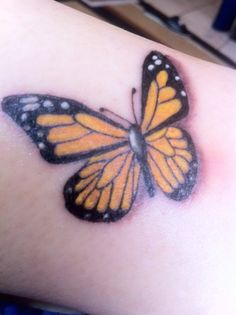 After Catherine's 21st party, she and my son Neil, took me to the tattoo parlour to have this special butterfly tattoo created on my ankle .. in memory of Jen's 9th Angel Anniversary ... I will be returning in a few weeks' time to have it coloured more yellow ... but now Jen's frequent yellow butterfly sign that she sends me, is always with me ...