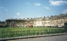 This is a Georgian Crescent. Built during the reign of George III and George IV in the Regency period depicted in Jane Austen's books.