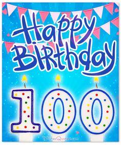 100th Birthday Message