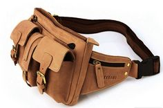 Utility Belt Leather Belt Bag Hip in Brown by Heavenbag on Etsy, $79.00