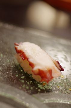 Tako - Octopus Nigiri Sushi|たこ  Sweet and slightly chewy, octopus has a delicious flavor and texture!