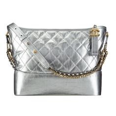 Chanel CHANEL'S GABRIELLE HOBO BAG (€3.290) ❤ liked on Polyvore featuring bags, handbags, shoulder bags, handbags hobo bags, silver, shoulder handbags, handbag purse, hobo shoulder handbags, hobo handbags and chanel