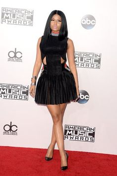 Nicki Minaj in Alexander Wang dress at the 2014 American Music Awards Red Carpet