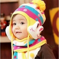 1776da3f180 Female baby hat   autumn and winter wool cap   baby hat   baby hats  Children ear Korea Korean clothing