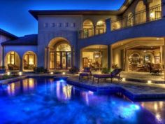 Beautiful Home with pool and home exterior lighting   ༺༻ ❤ IrvineHomeBlog.com