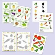 Ismerd meg a zöldségeket! Nyomtatható ovis játékok és feladatok: http://webshop.jatsszunk-egyutt.hu/shop/kis-kerteszek-kiscsoport/