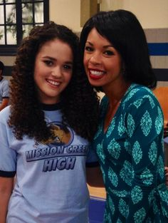 """Photo: Madison Pettis And Angel Parker On The Set Of """"Lab Rats"""" November 12, 2013"""